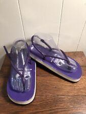 True Vintage!  **RARE** Tiddies PURPLE Sandals Size Medium Rubber Foam Soles