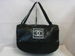 Auth WP06 CHANEL Sports line messenger bag serial seal shoulder bag from Japan