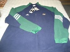 MENS Notre Dame Fighting Irish ADIDAS NCAA FULL ZIP FLEECE TOP L LARGE  NEW