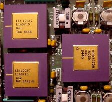 lot 3 vintage LSI Purple Gold Processor CPU COLLECT OR SCRAP