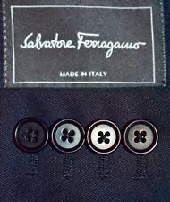 36S Salvatore Ferragamo Navy Blue SUIT Flat Front 34 LNWOT