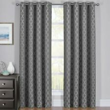 2PC Rosaline Thermal Insulated Blackout Curtain Set Jacquard Window Panels