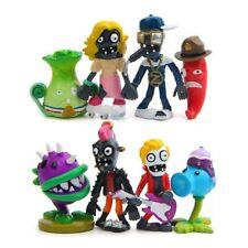 8pcs SET Plants Vs Zombies Chomper Jalapeno Snow Pea Action Figure Toy Gift Kids
