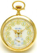 Rare 14K Gold Hamilton Case Pocket Watch Beautiful Dial , 23-Jewel Movt Ca1918