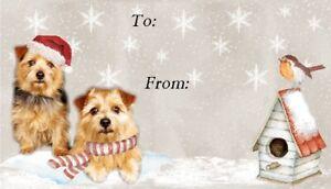 Norfolk Terrier Christmas Labels by Starprint