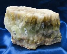 Beautiful Mexican Green Calcite w/white marbling/red streak - rock - collectible