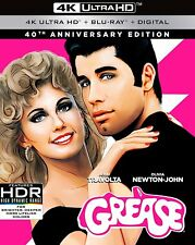 GREASE - 40th anniversary edt   (4K ULTRA HD) - Blu Ray -Region free