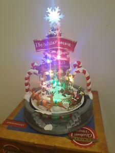 LUMINEO LED Large Christmas Village Decoration Santa Claus and Reindeers