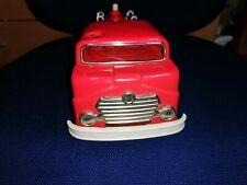 Spielzeugauto Blechspielzeug GAMA große Feuerwehr Drehleiter mit Friktion 1960er