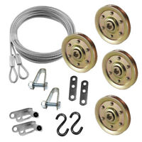 "Garage Door Cable Pulley 3"" & Safety Cable Guide Heavy Duty Complete Kit"