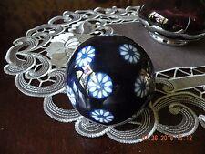 Cobalt Art Glass Inlaid Decorative Carpet Ball