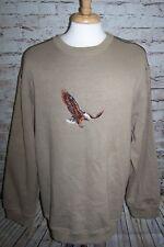 Renegade Club Sweatshirt Men XXL Acrylic Beige Embroidered Eagle Elbow Patch
