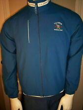 Ashworth Ladies Full Zip Blue Poly Marshall Jacket Winged Foot 2006 Usga Open