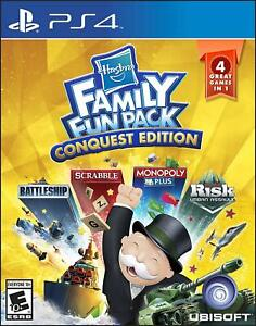 Family Fun Pack Conquest Edition PS4 PS5 Scrabble Monopoly Risk Battleship - New