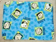 FLEECE STANDARD (TWIN) PILLOW COVER -CHARLIE BROWN PRINTS - 2 CHOICES