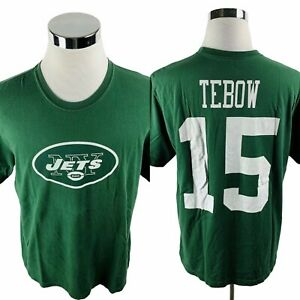 Nike New York Jets NFL Tim Tebow #15 Green T-Shirt Men's XL X-Large