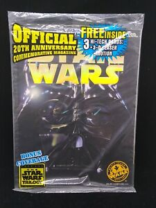 Star Wars Official 20th Anniversary Commemorative Magazine Topps 1997 Sealed
