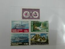 (RB 123) 1967-69 Kenya-Uganda-Tanganyika Stamps, set in 5 - Used