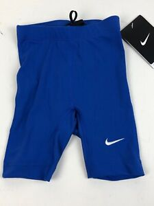 Nike Boys Youth Swim Shorts Size 20 Poly Core Solid Jammer TESS0036 Blue 490