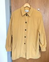 Basler Ladies Size 18 Yellow Wool Angora Coat Jacket Vintage
