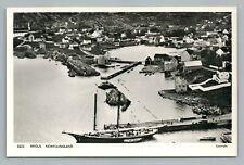 Brigus Newfoundland RPPC Conception Bay Vintage Photo Ayre Sailboat 1950s