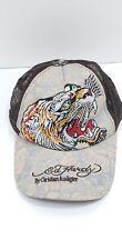 ED HARDY Unisex Rhinestone Embellished Tiger Snapback Adjustable Hat Cap
