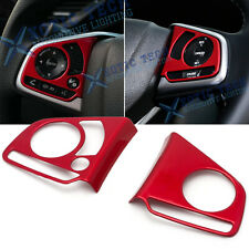 For Honda Civic 2016-2020 10th Inner Red Steering Wheel Switch Frame Cover Trims
