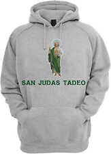 San Judas Tadeo Sweater Hoodie for Men Color Black-Grey