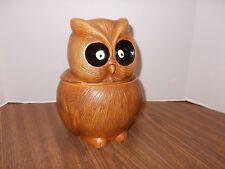 Lefton 1960s Brown Owl Cookie Jar H4628 Vintage Retro Ultra Rare Excellent Shape