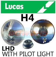 "LUCAS LHD 5.75"" 5 3/4"" INCH CLASSIC CAR HEADLAMP HEADLIGHT HALOGEN H4 CONVERSION"