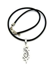 """New SLIPKNOT Stainless Steel Pendant &18"""" Rubber Chain Hip Hop Necklace RC1463"""