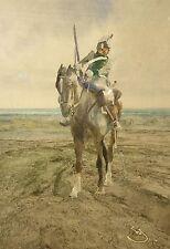 Wilhelm Schreuer 1866 Wesel - Düsseldorf / Kavallerie / Gemälde / um1900
