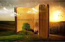 Digital Art picture surreal photo reading landscape nature bookmark-size print