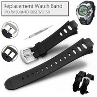Replacement Silicone Wristwatch Band Straps w/Tool for SUUNTO OBSERVER SR