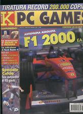 K PC GAMES2000 f1 2000calcio,quake3arena,half life,tomb raider4,gabriel knight