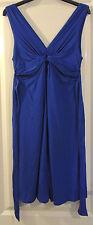 Jane Norman - Blue Dress - Stretch - Knot Top & Tie Back Belt - 14