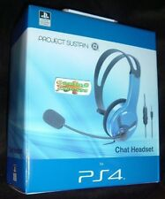 Official PS4 Wired Chat Headset BLUE Playstation 4 PS4 NEW SEALED FREE UK p&p