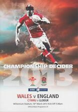 WALES v ENGLAND 2013 RBS 6 NATIONS RUGBY PROGRAMME 2013