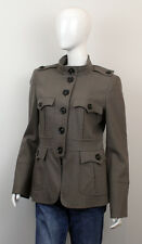 BURBERRY WOMEN'S MILITARY STYLE WOOL JACKET SIZE US12 IT46