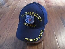 UNITED STATES COAST GUARD RETIRED HAT BALL CAP USCG PROUDLY SERVED 092f0510eb28