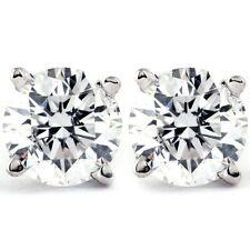 1/4 - 2 CT Diamante Natural T.W. espárragos en 14k Oro Blanco O Amarillo