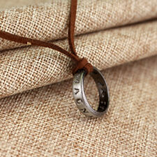 USA Uncharted 4 Necklace Nathan Drake's Vintage Band Ring Leather Code Pendant