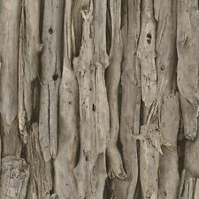 New Rasch - Driftwood - Wood Logs - Natural - Modern Feature Wallpaper 273304