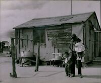 LG754 1963 Original Photo THREE ROCKS CALIFORNIA American Poverty Poor Children