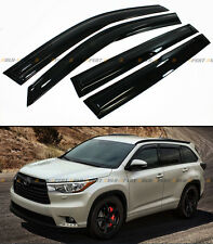 FOR 2014-2017 TOYOTA HIGHLANDER XU50 JDM WAVY 3D SMOKED WINDOW VISOR RAIN GUARD