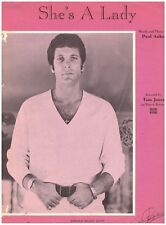 """She's A Lady"" Tom Jones Sheet Music 1970/1971 Piano/Guitar"