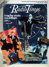RADIO TIMES 27 JUNE 1987 . THE RKO STORY FRONT COVER . HAMMER HORROR