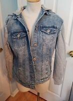 jean flanel hoodie jacket s.  #851