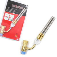 Double nozzle swivel head Mapp Gas Turbo Torch Brazing Solder Welding Plumbing