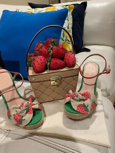 Kate Spade Picnic Perfect 3D Strawberry Basket Leather